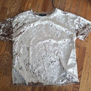 Crushed velvet t shirt